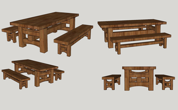 Barnwood table bid