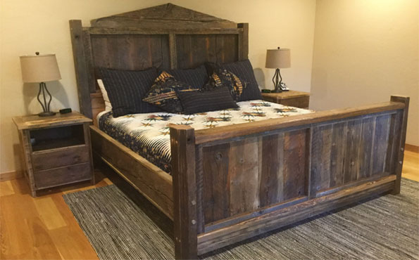 Custom Recycled Barnwood King Bed
