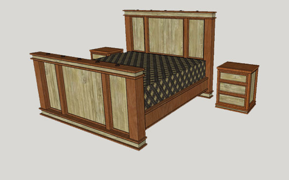 King barnwood bedroom set bid