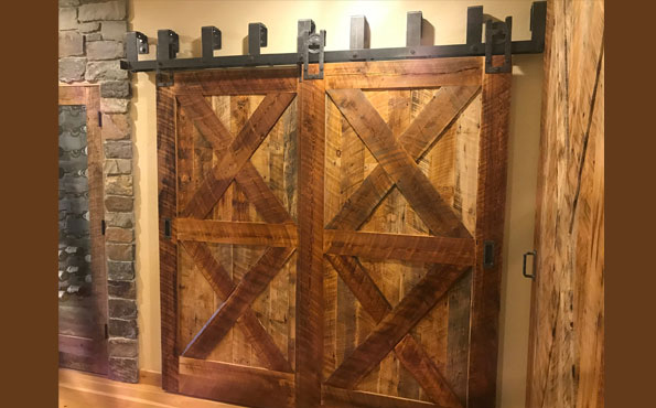 Recycled Barnwood Sliding Doors