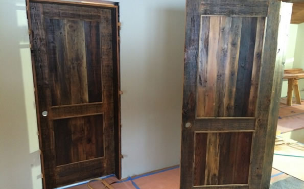 Reclaimed barnwood interior doors
