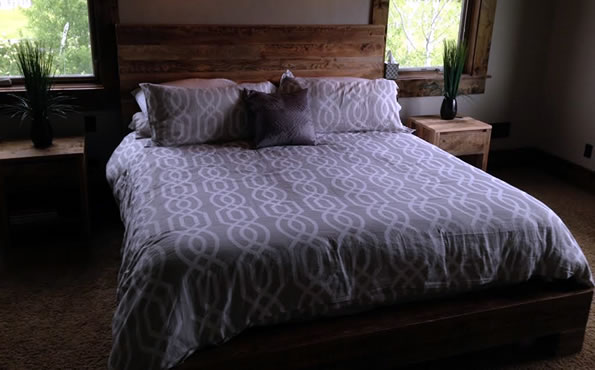 Reclaimed barnwood queen bed