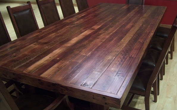 Ordinaire ... Reclaimed Barnwood Dining Table ...