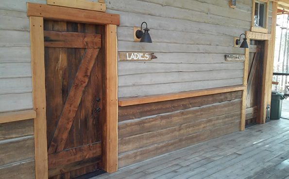 Exterior sanded barnwood doors with Z buck